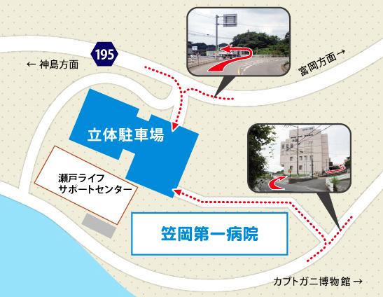 図: 駐車場への入り方